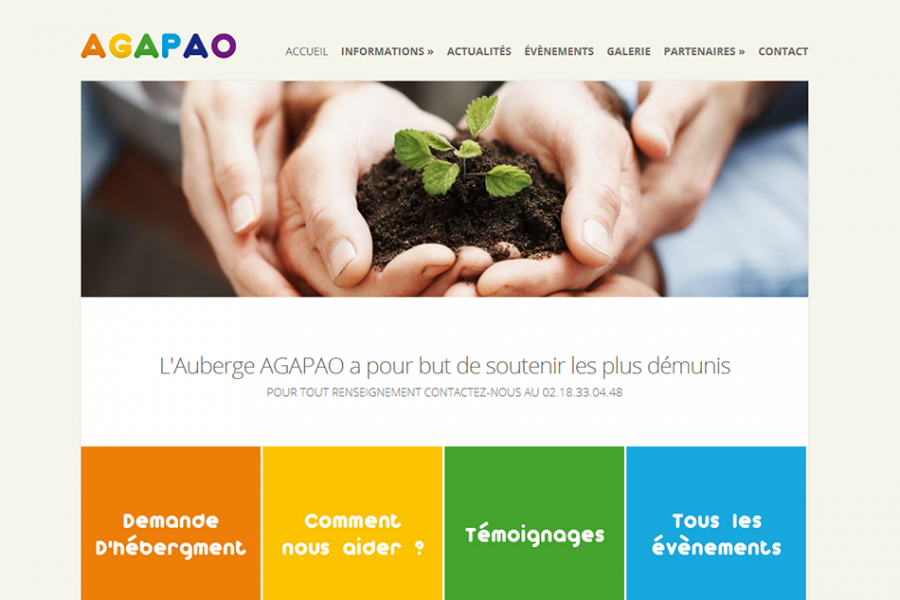 Site Internet - ASBL Agapao