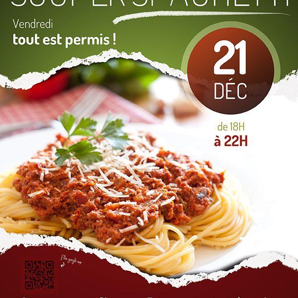 Affiche Souper Spaghetti