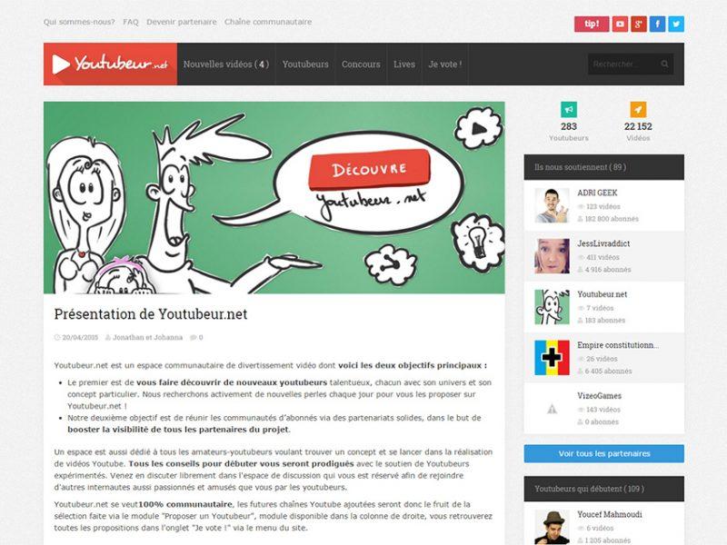 Youtubeur.net - Site communautaire
