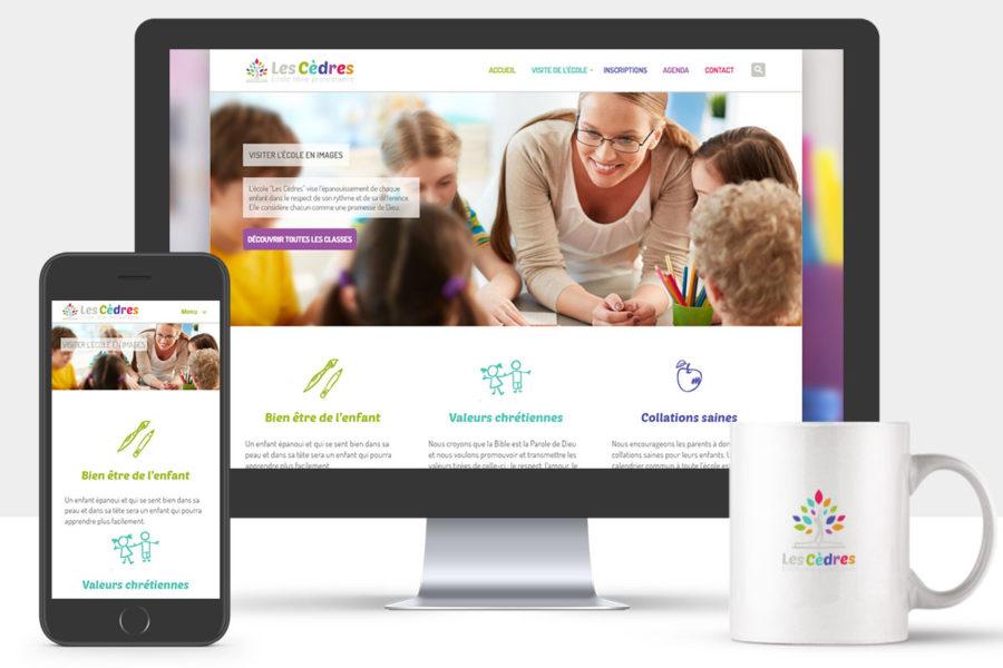 Site Internet de l'école Les Cèdres